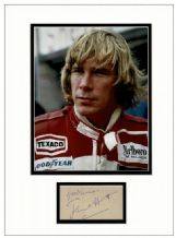 James Hunt Autograph Signed Display